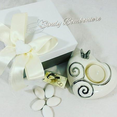 Bomboniere Confezionate Matrimonio.Idee Bomboniere Matrimonio Porta Candele Ceramica Farfalla Nozze