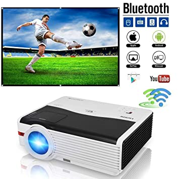 Android Projecteur WiFi 5000 Lumens, MAX 200