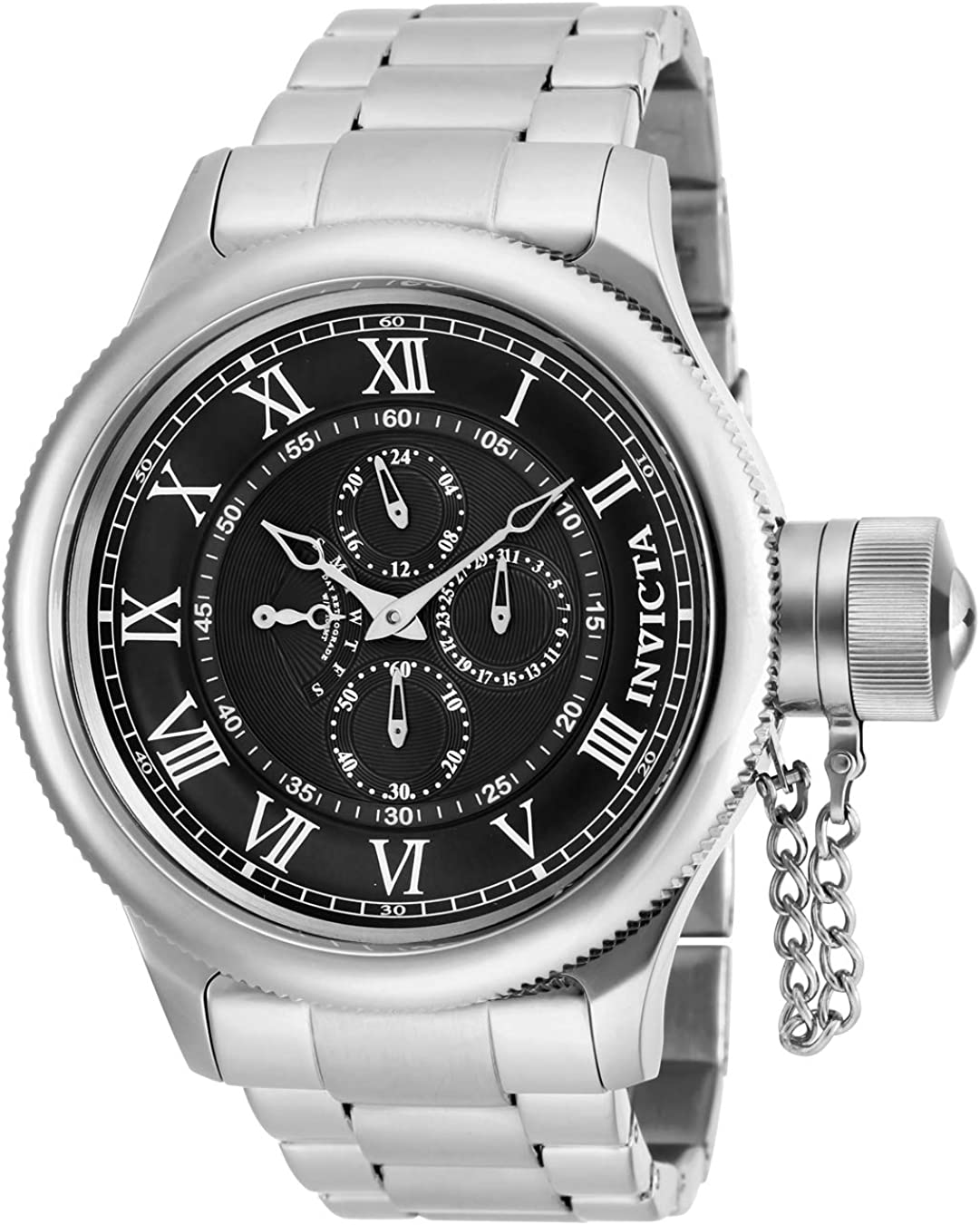 Invicta Men s Russian Diver Quartz Watch with Stainless Steel Strap, Silver, 26 Model 17664