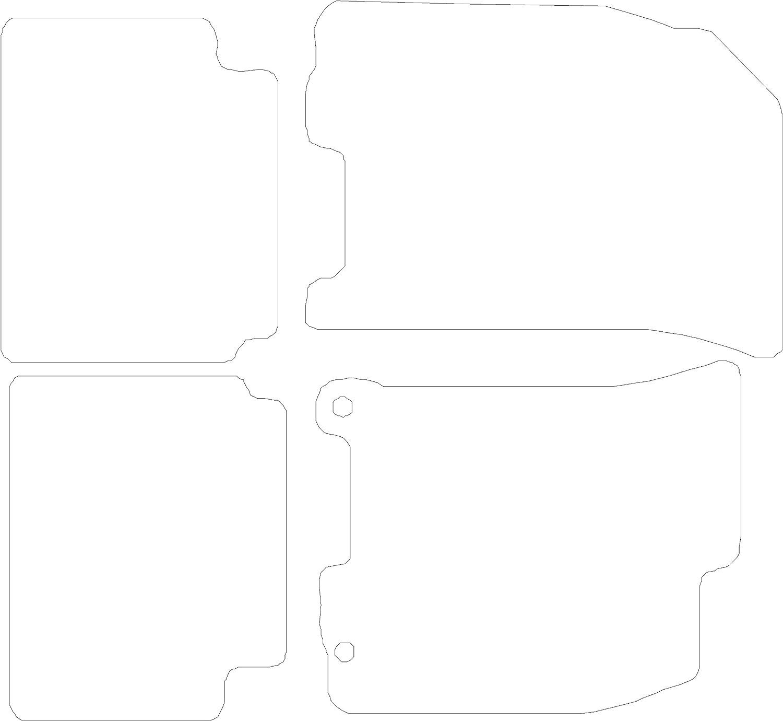 Black with Black Trim Connected Essentials CEM500 Car Mat Set Deluxe