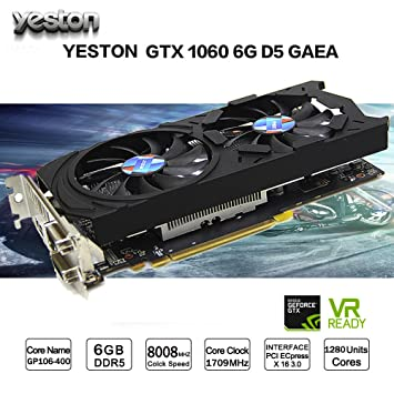 Tarjeta gráfica GTX1060 Momola Yeston GeForce GTX1060 GPU 6 ...