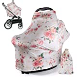 DSYJ Nursing Cover Baby Breastfeeding Scarf with Free Matching Pouch, Car Seat Covers, Boys and Girls Shower Gifts, Multifunc