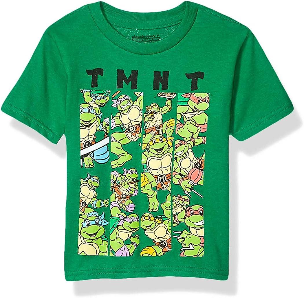 Teenage Mutant Ninja Turtles Boys TMNT Group Short Sleeve Tshirt-Toddlers