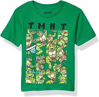 Teenage Mutant Ninja Turtles Boys NJSDAB6-02T TMNT Group Short Sleeve Tshirt - Toddlers Short Sleeve T-Shirt - Green