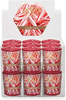 product image for Root Candles 20-Hour Scented Beeswax Blend Votive Candles, 18-Count, Candy Cane