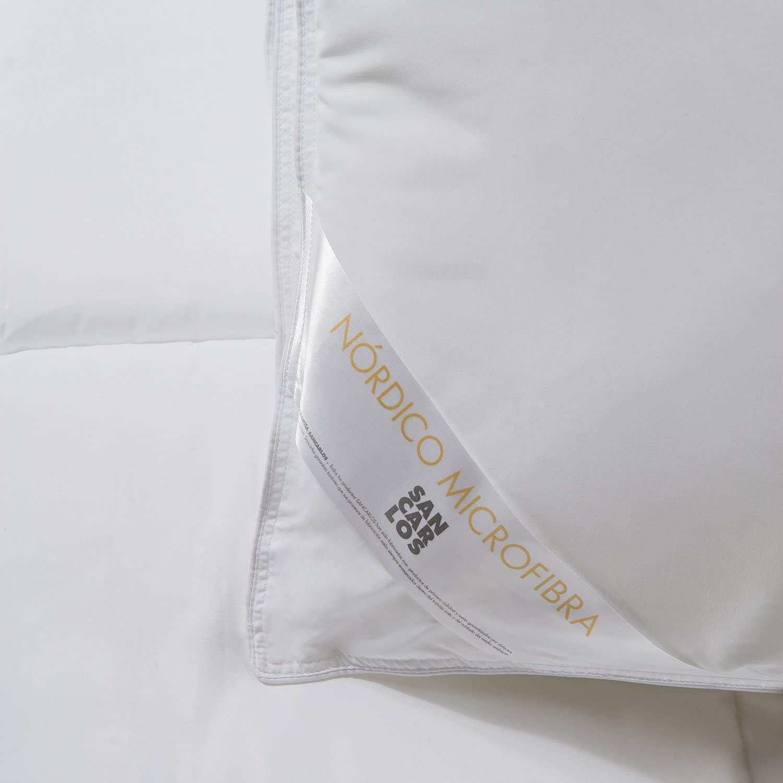 Sancarlos/ /Edredon Nordico Mistral/ /Toucher Peau de P/êche /Densit/é Blanc 350/g./ /MicroGel Garni/