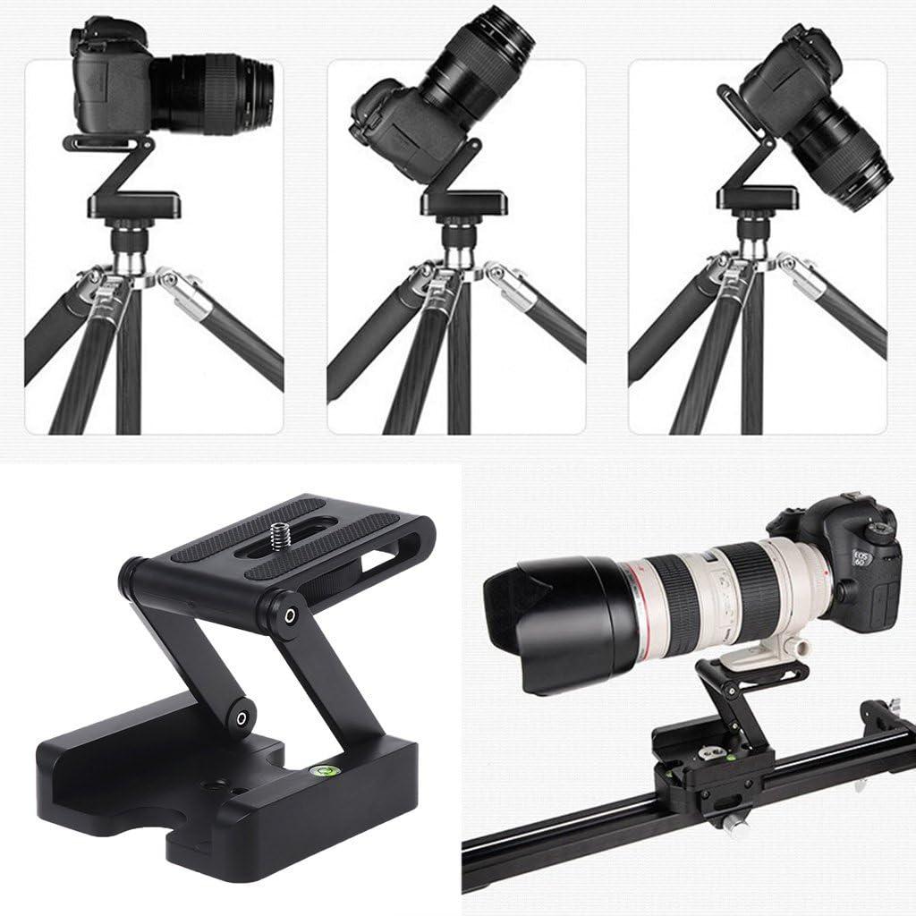 Sixsons Portable Z-Type Camera Folding Tripod Pan Tilt Ball Head Desktop Stand Holder Adjustable Folding Rotation Angle