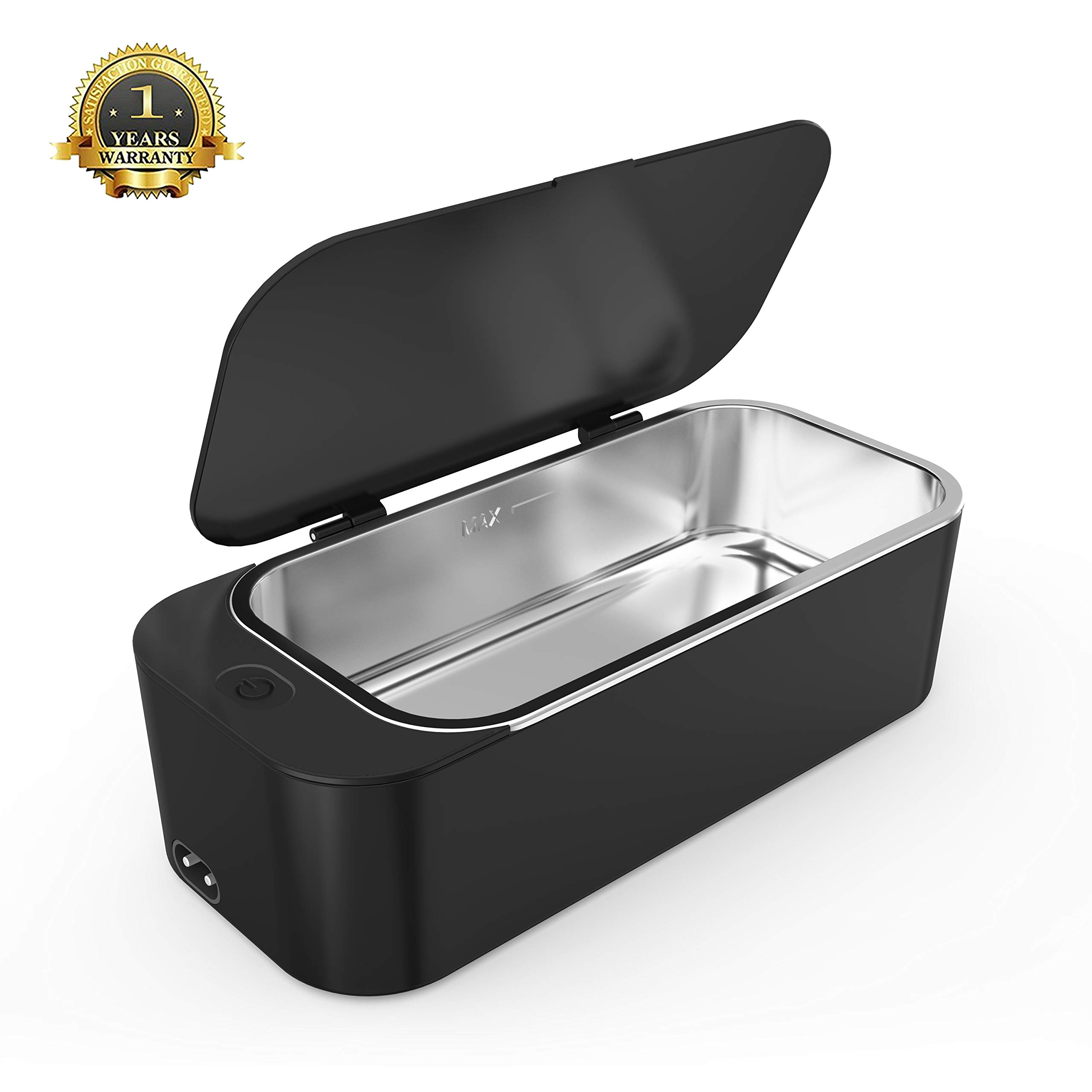 Ultrasonic Jewelry Cleaner Professional Ultrasonic Machine for Rings Watches Denture Eyeglasses Coins Razors with 450ml by Homblze
