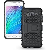Cedo Premium Hybrid Military Grade Armour Kickstand Back Cover Case for Samsung Galaxy On5 Pro / On5 (Black)