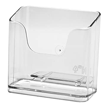 Transparent Büromaterial DIN A5 Tischaufsteller Prospekthalter Prospektständer Flyerständer im Querformat