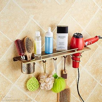 Amazon.com: Rack shelf Shelf Hair Dryer Rack European Bathroom ...