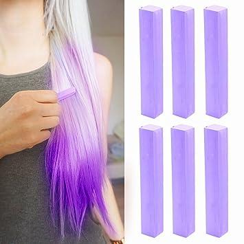 Vivid Lilac Hair Dye | Light Purple Hair Chalk | LILAC LAVENDER Hair Color  | With