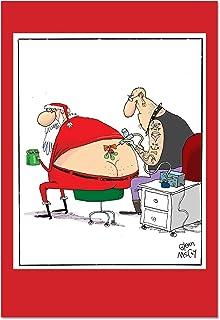 Amazon nobleworks birthday suck funny blank merry nobleworks santa tattoo funny merry christmas greeting card m4hsunfo