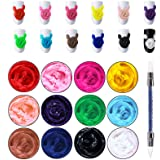 Ownest 12 Colors Sculpture Painting Nail Gel Set,3D Nail Carved Gel Sculpture Creative Painting Glue Soak Off UV,with 1 Carve