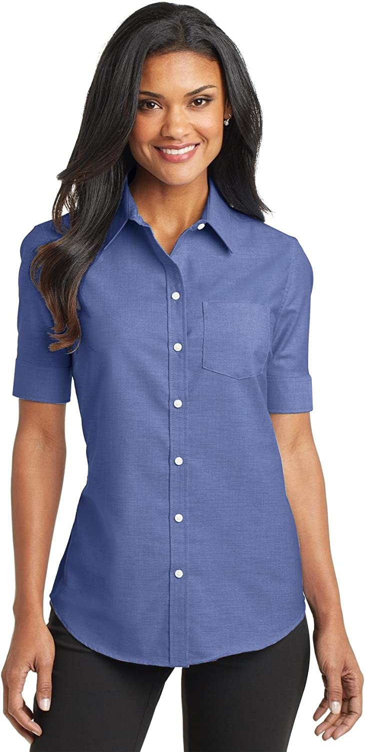 Port Authority Women's Short Sleeve SuperPro Oxford Shirt