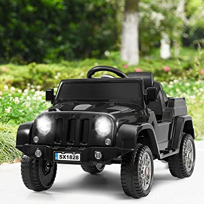 Battery Powered Kids Ride On Car with Remote Control (Black): Toys & Games