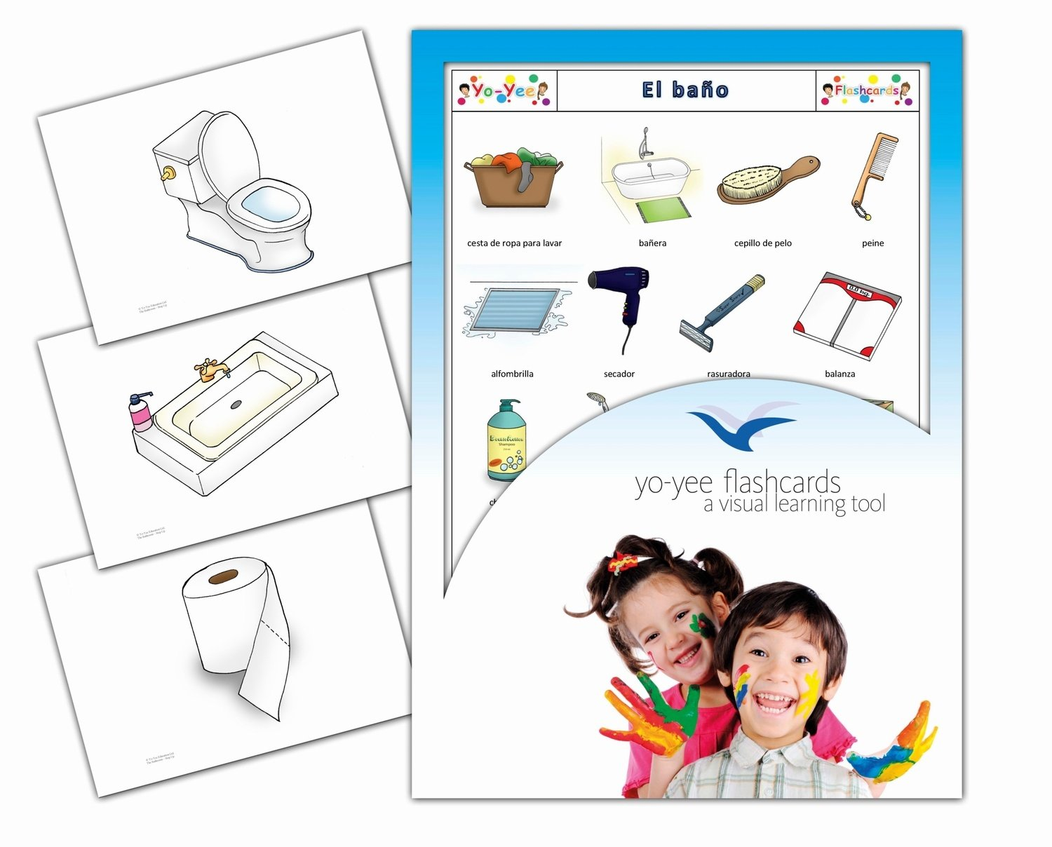 Amazon.com: Tarjetas de vocabulario - El baño - Spanish Bathroom and Body Care Flashcards for Kids, Toddlers, Children and Adults: Toys & Games