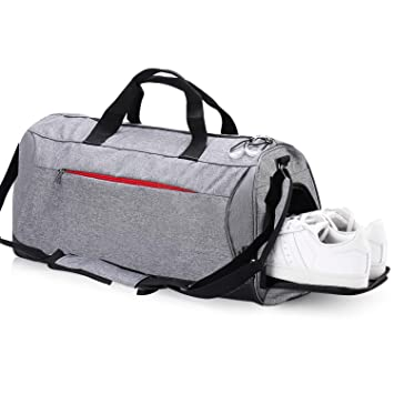 ef62f8f354cd6e Eocean Waterproof Duffle Bag Dry Wet Depart Sports Gym Bag with Shoes  Compartment, Waterproof Duffel Gym Sports Bag for Men and Women (Gray):  Amazon.ca: ...