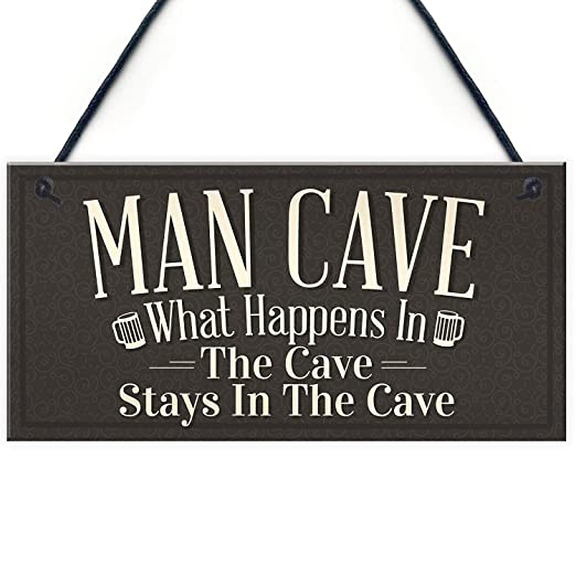 Mr.sign Man Cave Cartel de Pared Madera Placa Madera Palet ...