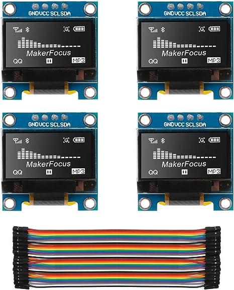 "0.96/"" 128x64 I2C IIC OLED Display Module for Arduino White//Blue//Yellow SOLDERED"