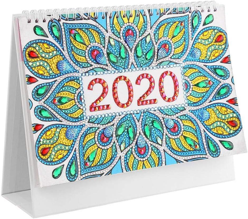 DIY Mandala Special Shape Diamond Painting 2020 New Year Mini Desk Calendar Gift