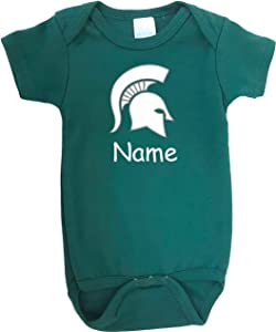 Future Tailgater Michigan State Spartans Personalized Color Baby Onesie