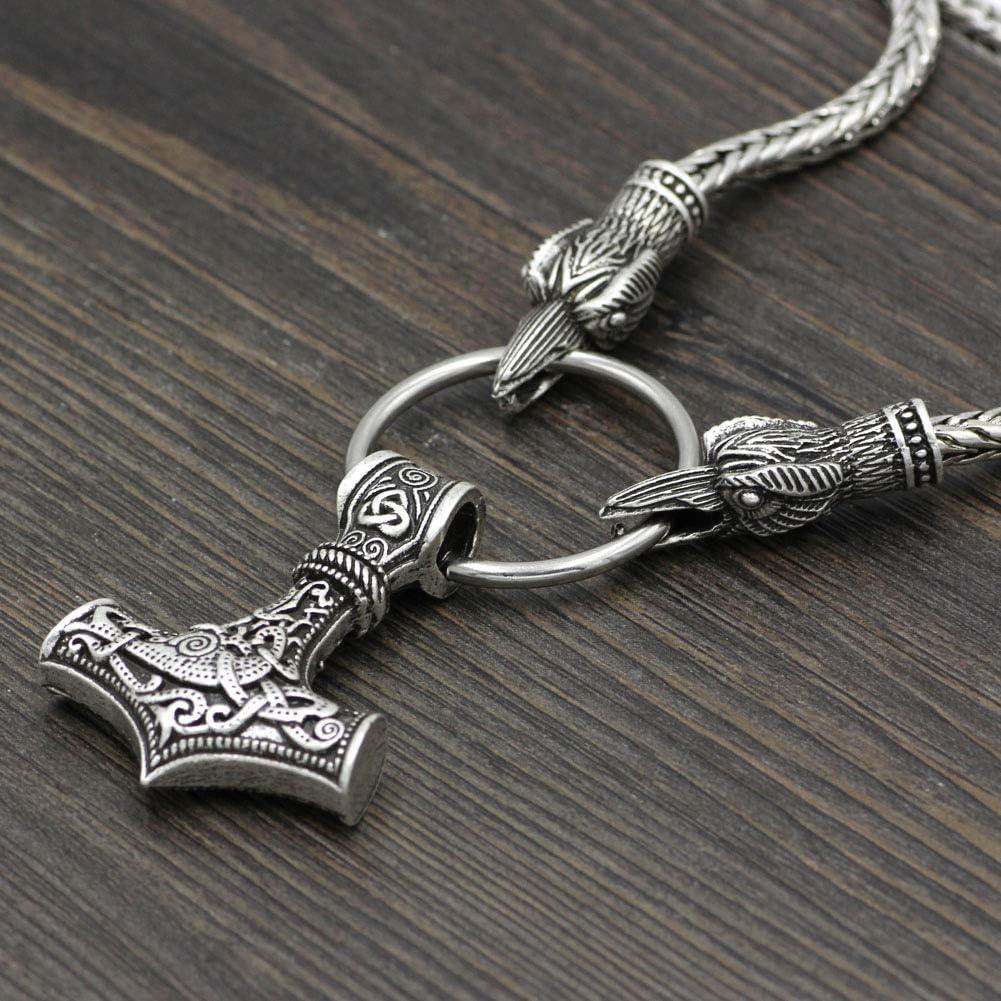Brace Collier Viking Cha/îne en argent avec marteau Thor J