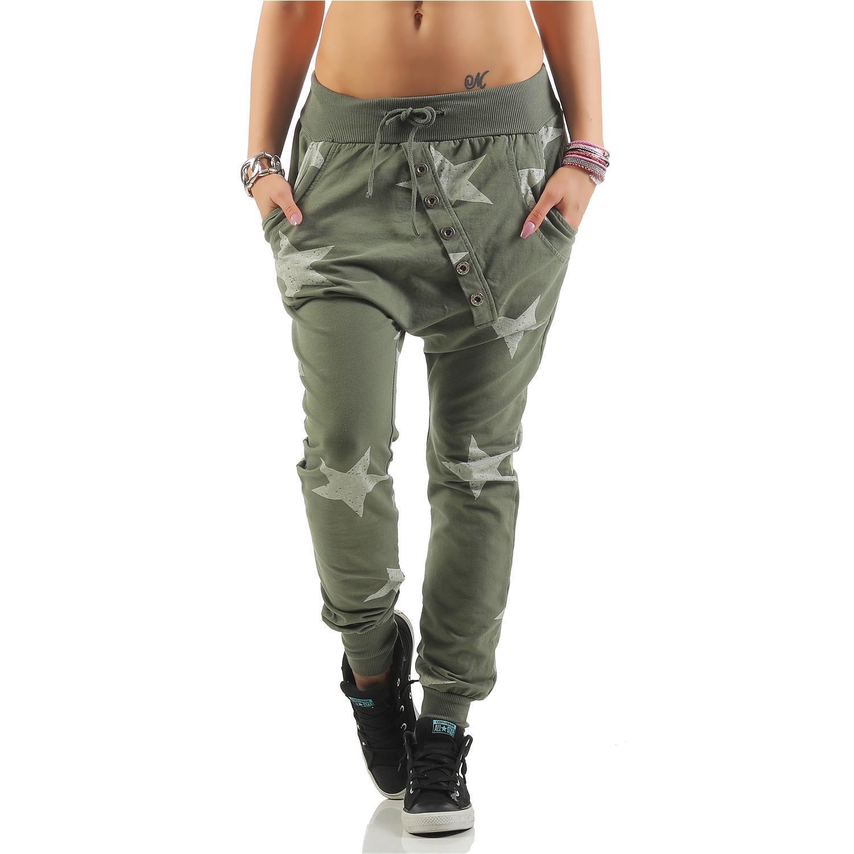 Zarmexx Damen Sweatpants Baggy Hose Jogginghose Fitness Sport Yogapants  Loose Fit Big Star One Size 12119  Amazon.de  Bekleidung b6877d2c30