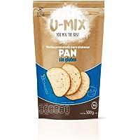 HARINA SIN GLUTEN U-MIX Premezcla para elaborar Pan - 500 GR - Harinas HECHO EN MEXICO Vegano Gluten Free Kosher - free…