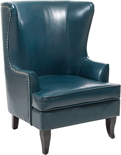 Christopher Knight Home Canterbury High Back Wing Chair, Teal