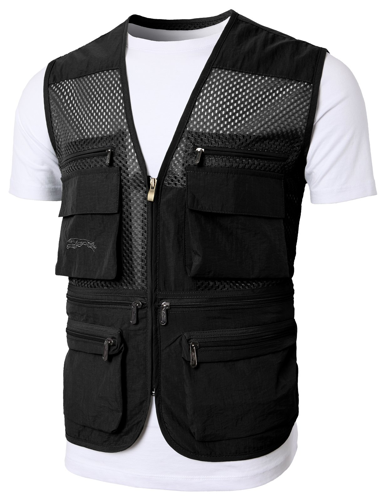 H2H Mens Casual Work Utility Hunting Travels Sports Vest With Multiple Pockets Black US XL/Asia 2XL (KMOV0149)