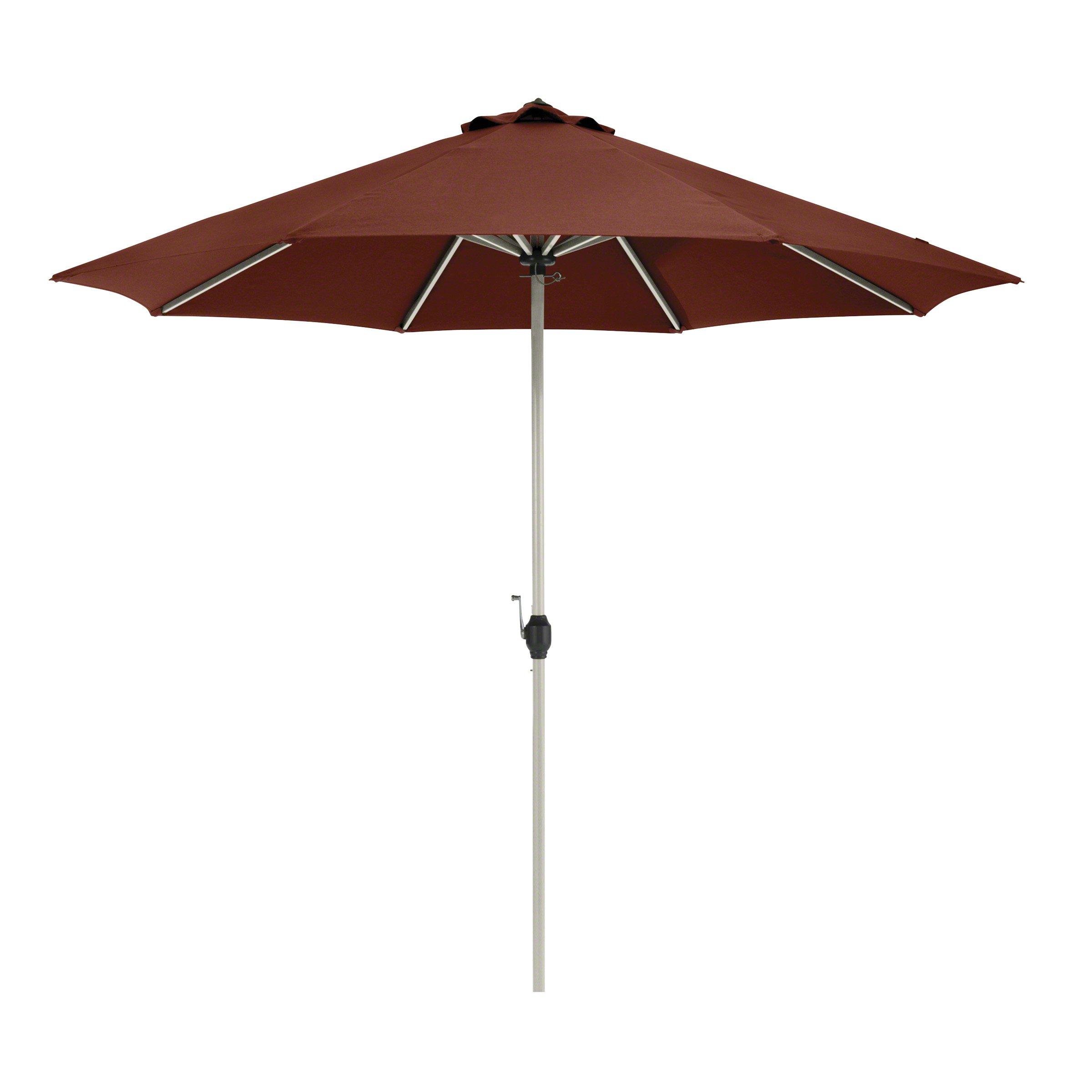 Classic Accessories Montlake FadeSafe 9-Foot Round Aluminum Patio Umbrella, Heather Henna