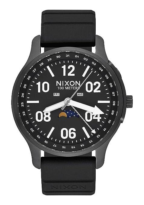 Nixon Reloj Fase Lunar para Hombre de Cuarzo con Correa en Silicona A1209-2474-