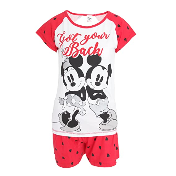 scarpe di separazione 9ad92 500de Disney - Pigiama Corto a Due Pezzi di Minnie e Topolino - Donna