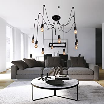 LightInTheBox Vintage Edison Multiple Ajustable DIY Ceiling Spider Lamp  Light Pendant Lighting Chandelier Modern Chic Industrial