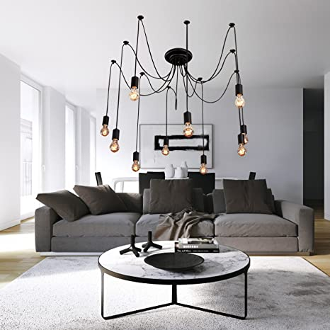 High Quality LightInTheBox Vintage Edison Multiple Ajustable DIY Ceiling Spider Lamp  Light Pendant Lighting Chandelier Modern Chic Industrial