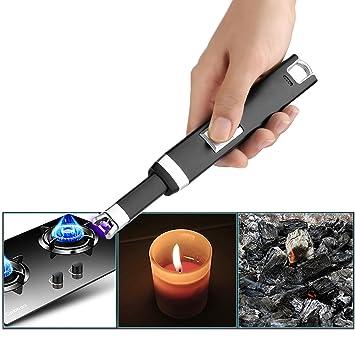 Encendedor de Arco Eléctrico Cargado, Gosear USB recargable a prueba de viento sin llama no