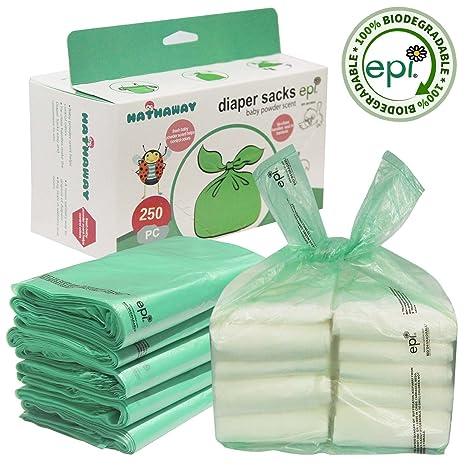 easy-tie bebé pañales desechables bolsas/bolsas de pañales con polvos de talco aroma