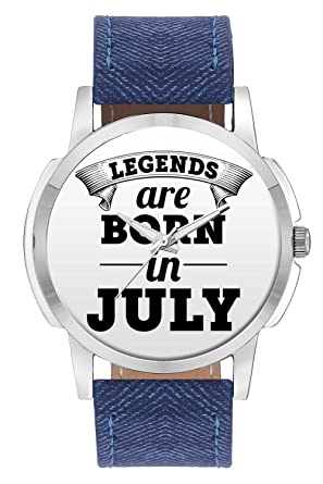 b2dfa20b4c BigOwl Wrist Watch for Men - Legends are Born in July Branded Fashion  Watches for Boys - Best Casual Analog Leather Band Watch (Perfect Birthday  Month ...
