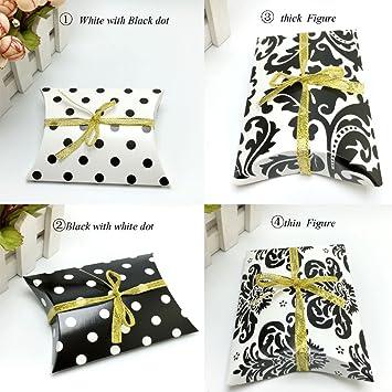 BUNITA,100Pieces/lot Pillow Shape Candy Boxes Paper PVC Wedding Favor Gift Box Party
