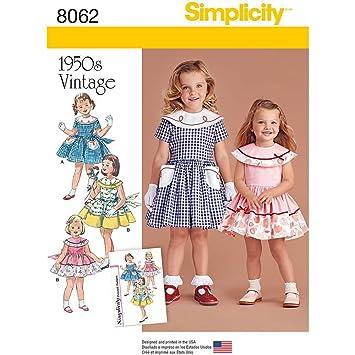 0f948ffe320a5 Simplicity 8062bb Vintage 1950 de Robe pour bébé et Enfant » Patron de  Couture