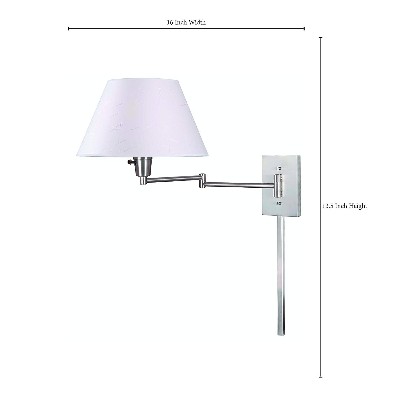 Kenroy Home 30110BS Simplicity Wall-Mounted 150-Watt Swing-Arm Lamp ...