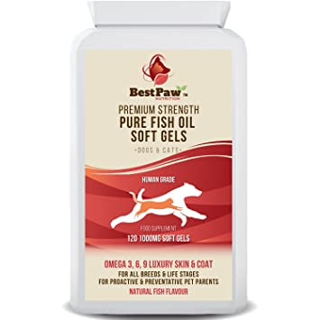 Best Paw Nutrition - Omega 3 6 9 cápsulas de Aceite de Pescado para Perros, Gatos y Mascotas - Premium 100% Natural Fish Oil Supplement For Dogs, Cats ...