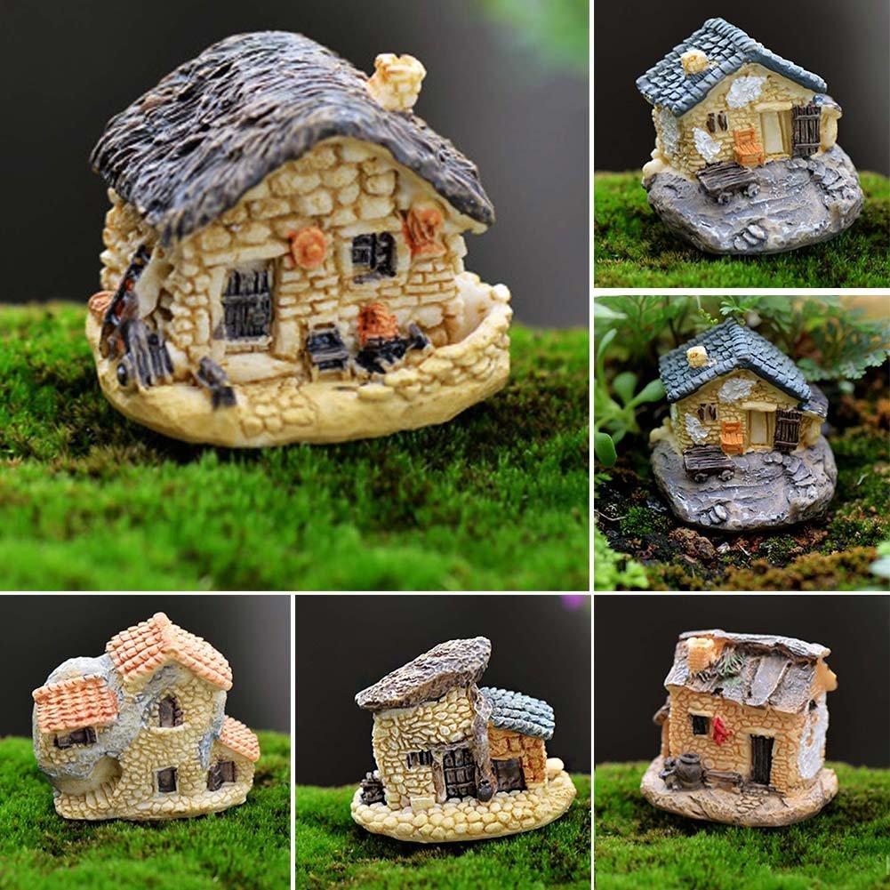 Gartenfiguren Skulpturen Harz Moss Cottages Mikro Landschaft Kleines Haus Figuren Miniaturen Garten Terrasse Jung Israel Org