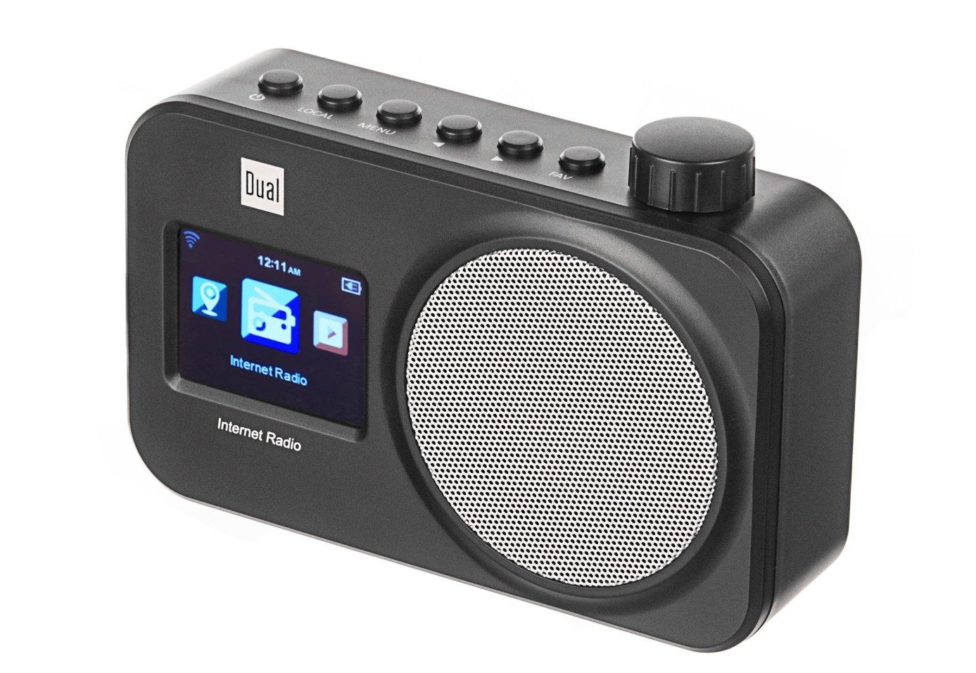 Wifi, UpnP di streaming audio, ricerca di rete automatica, funzione sveglia, Alimentazione Elettrica Dual 75183/IR 11/WiFi Internet Radio con display a colori nero
