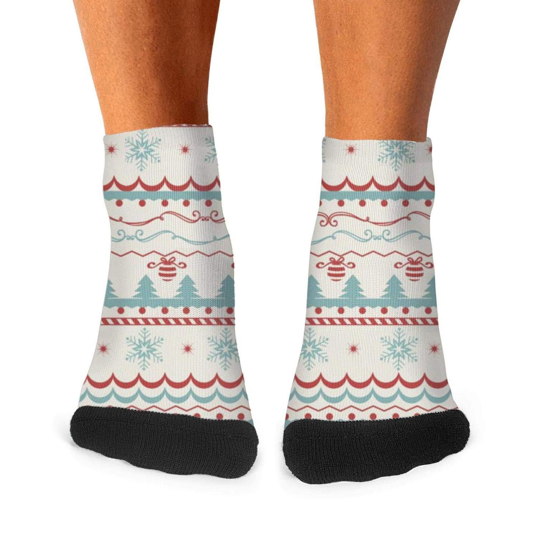 Mens athletic low cut Ankle sock Vintage Christmas Pattern Cool Short Cute Sock
