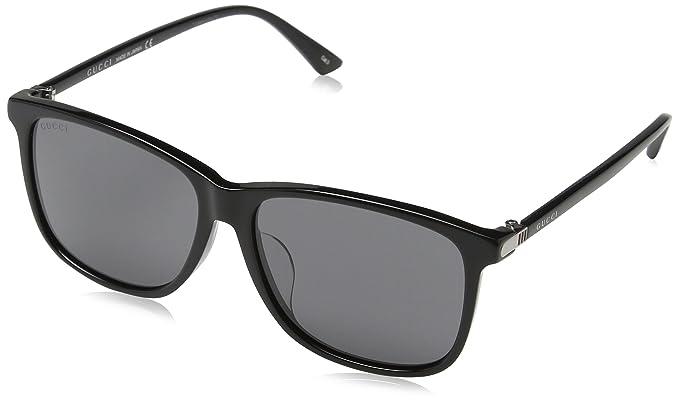 3a15bad644 Gucci GG0017SA 001, Occhiali da Sole Uomo, Nero (Black/Grey), 58:  Amazon.it: Abbigliamento