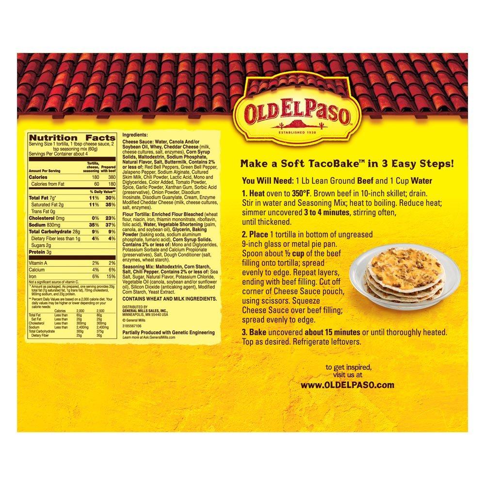 Amazon Old El Paso 4 Soft Taco Bake Dinner Kit 84 Ounce