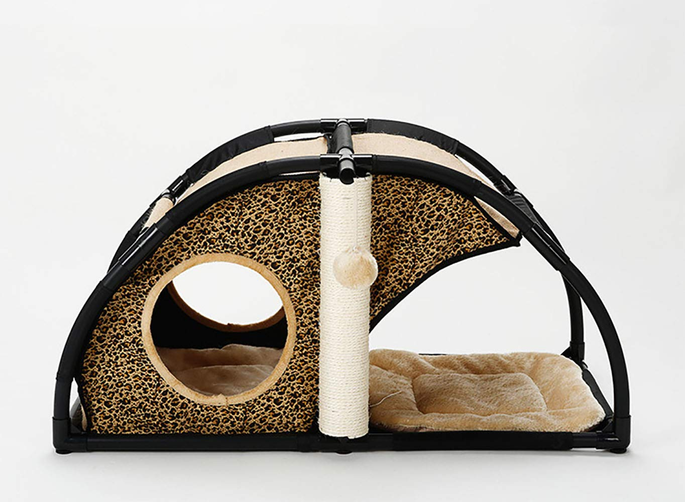 Leopard Print SuperJOJOLEE Cat Climbing Frame Sisal Rope Cat Nest MultiFunction Pet Supplies Combination Nest Pet Cat Toy Cat Stand