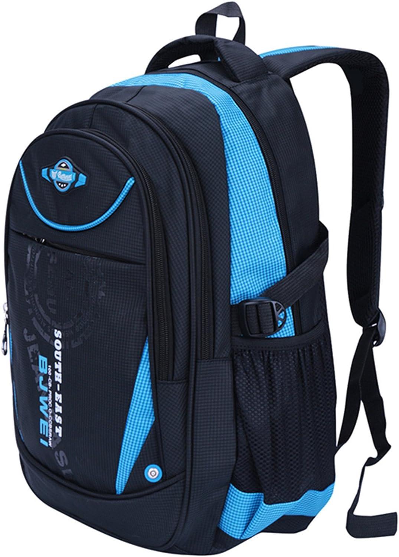 Bleu Sac pour les Garcons Filles Cartable de L/'/école Cartable Imperm/éable Durable de Voyage Camping Scolaire Multifonctionnel Backpack